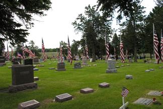 American Legion Cemetery Flags